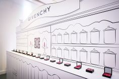 Givenchy Pop Up takes a unique design approach to really… pop! #Retail #Design #Innovation visual merchandis, idea, popup shop, givenchy, retail