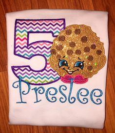 Shopkins cookie birthday shirt
