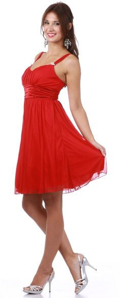 Image detail for -Red Short Bridesmaid Dress