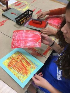 Mrs. Knight's Smartest Artists: Reduction Printmaking, 5th grade