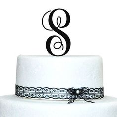 Buythrow Cake Toppers Initial Custom Wedding Cake Toppers Letter in any letter A B C D E F G H I J K L M N O P Q R S T U V W X Y Z *** Continue to the product at the image link.