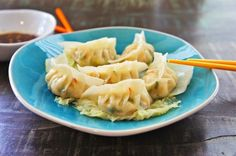Steamed Shrimp Dumplings makes a wonderful light meal. You can find the dumpling wrappers at the chiller aisle of any Asian supermarket in your neighborhood. The dumplings are steamed on a bed of cabbage and served with a light soy and vinegar sauce. Appetizer Dishes, Appetizer Recipes, Asian Recipes, Healthy Recipes, Ethnic Recipes, Chinese Appetizers, Shrimp Dumplings, Steamed Shrimp, Chicken Spring Rolls