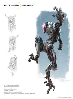 Eclipse Phase - Flexbot Traceur by conceptgep.deviantart.com on @DeviantArt