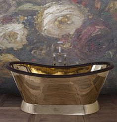 Bring some dazzle! The highly polished Brass Bateau is the perfect bathroom bling! #Bling #Brass #Bathroom #Baths #Bespoke #Luxury #Handmade #Polished #Metal #Shiny