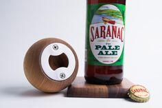 Round Wood Bottle Opener