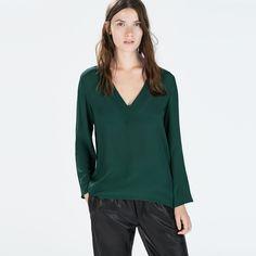 Women Long Sleeve V-Neck Asymmetry Casual Chiffon Shirt Loose Plus Size Tops  Blouse Blusas Feminina Spring Summer NC-412 - Green 2753f4654