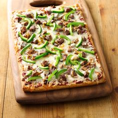 Greg and I LOVED THIS! Pillsbury® Philly Cheese Steak Pizza. It was so quick and easy! This is going in my favorite recipe box!