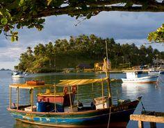 Brazil Harbor of Ilheus  Harbor of Ilheus  Fishing boats anchored in the harbor of Ilheus, a 16th-century port.