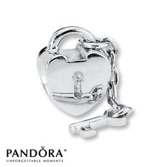 Jared - Pandora Charm Key to My Heart Sterling Silver