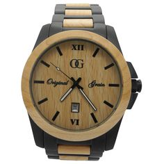 Wood watch.