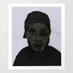 James Dewitt Yancey aka J Dilla  Art Print by jei delete - $22.88