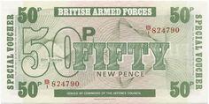 50 New Pence 1972 (Militärgeld)
