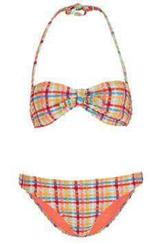 Check Bandeau #Bikini by Topshop