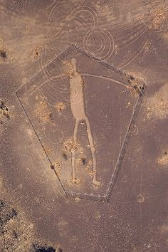Blythe Intaglios One of many ancient geoglyphs along the Lower Colorado River Valley. This one is located 15 miles northeast of Blythe, CA. This is the largest of the group measuring 176' in length.