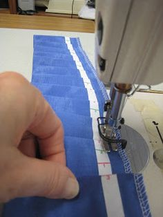 Rowley's pleating tape to make a knife pleated ruffle