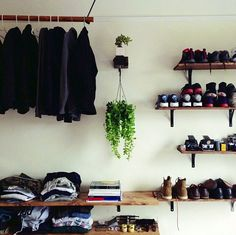 Apartment shoe shelves via Taylor Hoff