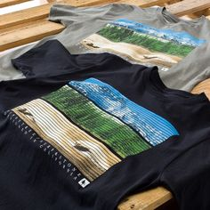 Our new View Tee features all the things you need in life - Waves, Mountains and Trees. Available in Black and Heather Grey. In stock now at core surf and outdoor shops and http://www.hippytree.com/shop/t-shirts/view-tee.html.