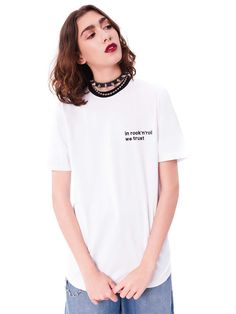 d43a3e21c Camiseta IN ROCK N ROLL WE TRUST branca - Steal The Look