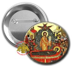 Orthodox Pin Button Icon Dormition of Theotokos 10pcs, Orthodox Pin Button Icons, www.Nioras.com - Byzantine Orthodox Art & Greek Traditional Products - Byzantine Christian Icons, Mount Athos Incense, Orthodox Church Supplies, Wedding Gifts, Bookstore Supplies Byzantine Art, Pin Button, Orthodox Christianity, Traditional Fabric, Religious Icons, Orthodox Icons, Metal Pins, Art Store, Incense