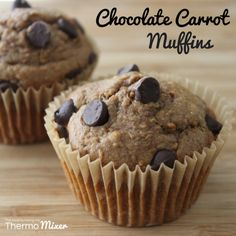 Choc Carrot Muffins - The Road To Loving My Thermomix