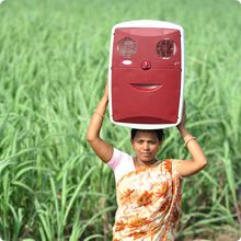 ChotuKool, a small portable cooling device, being used in rural India.