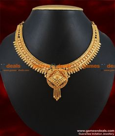 Jewelry & Watches Sunny Gold Tone Beaded 2pc Necklace Earrings Set Indian Ethnic Women Party Jewelry Suitable For Men And Women Of All Ages In All Seasons Bridal & Wedding Party Jewelry