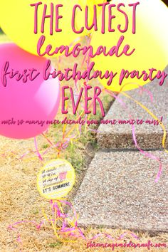Looking for lemonade first birthday party ideas? The Vintage Modern Wife has SO many cute ideas and has great attention to detail!
