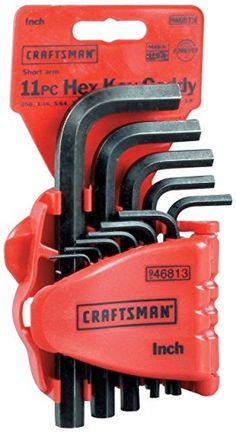 Allen Wrench Craftsman 46813 Standard Short Arm Hex Key 11 pc Set Made In USA *** Want to know more, click on the image.