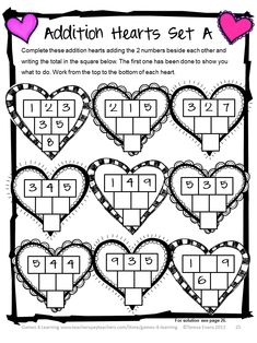 Valentines Day Math, Games, Puzzles and Brain Teasers from Games 4 Learning. $