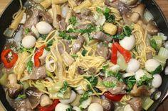 #Weeknite Spicy Beef w Noodles, Corn, Eggs #EasyAsianDish