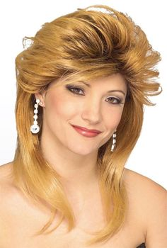 Car Dealer Wig synthetic female prom model actress costume theatrical Rubies TV #Rubies #FullWig