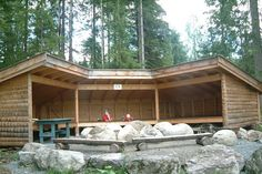 This is what we need on our land in ADK Backyard Greenhouse, Backyard Camping, Fire Pit Backyard, Chillout Zone, Fireplace Set, Outdoor Shelters, Barns Sheds, Bothy, Lean To