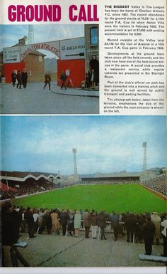 Charlton London, Charlton Athletic Football Club, Nostalgic Pictures, Football Stadiums, Aston Villa, The Visitors, Old Pictures, Great Britain, Over The Years