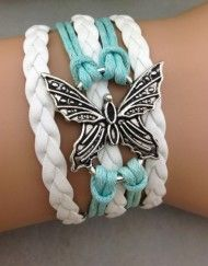 Butterfly Teal ModWrap Bracelet - Get 3 Free $15.00 ModWraps just pay shipping at gomodestly.com