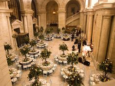 New York Public Library Wedding Reception