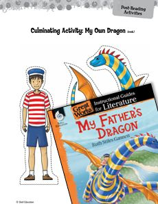 These post-reading activities for #MyFathersDragon allow students to share their understanding of #characters, #plot, and #settings of the book through writing, drawing, and performance! #litguide #CCSS Grade: K-3