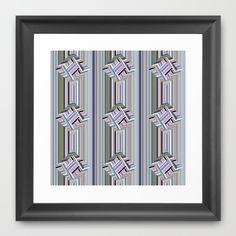 guides colored stripes Framed Art Print