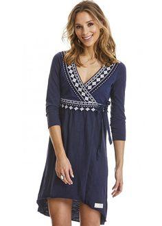 Odd Molly Blå Kjole 217M-362 Get-a-way L/S Dress - dark blue
