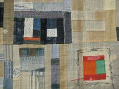 Great combinations of textures and colour, very Gees Bend but actually the ver marvellous Jude Hill of Spirit cloth