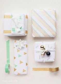 diy washi tape christmas gift wrap Dekorella Shop http://dekorellashop.hu/ #dekortapasz #washitape #maskingtape