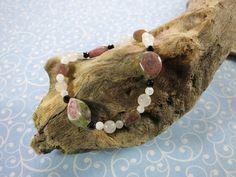 Wassermelonenturmalin Armband Bracelets, Leather, Camping, Jewelry, Tips, Watermelon Tourmaline, Rare Gemstones, Handmade, Wristlets
