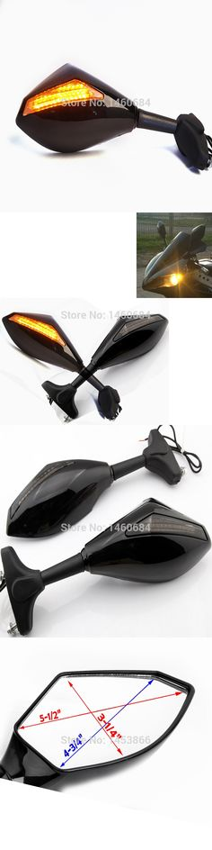 Motorcycle Racing Rearview Mirrors With Turn Signal LED Light For Hyosung gt250r Motorbike Accessories Handle Bar End Mirror