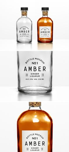 glass bottle mockup PSD