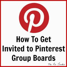 There are few better ways to grow you're following and increase your engagement than group boards! Here's how to get invited to Pinterest group boards.