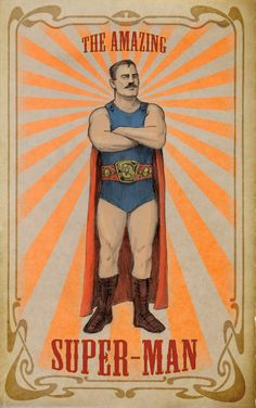 The Amazing Super-Man, c. 1905 | Meinert Hansen