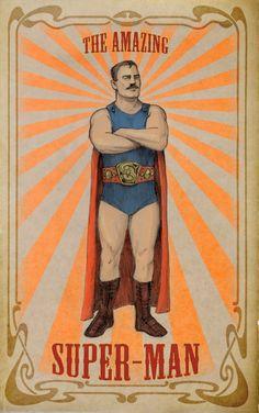 The Amazing Super-Man, c. 1905 | Meinert Hansen