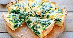 Recette de Tarte aux épinards et au saumon. Facile et rapide à réaliser, goûteuse et diététique. Ingrédients, préparation et recettes associées.