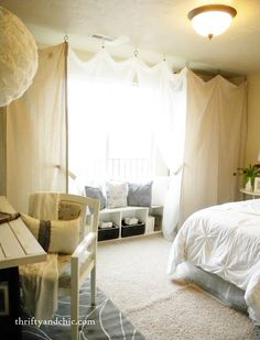 Cozy office/guest room/library. Swap the bed for a sofa-couch, add more books & bookshelves.