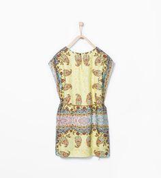 ZARA - KIDS - Printed dress with belt