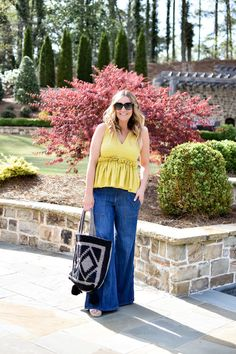 Yellow Peplum Top & Flares | RATMJ Blog